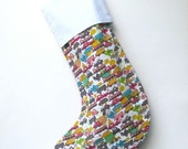 Modern Christmas Stocking - Babys First Transport - ready to ship