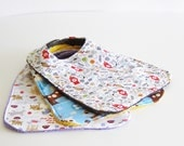 dog pattern baby bibs - three piece bib set- great as baby shower gift - baby bibs - super absorbent -  extra large - gift pack - gift set