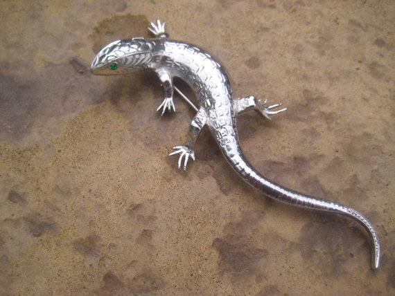 Vintage Lizard Brooch 6 inches long