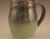 Small Pitcher/Creamer With Purple and Green Hare's Fur Glaze