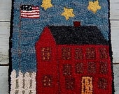 RED HOUSE AMERICANA Primitive Rug Hooking Kit with Cut Wool Strips