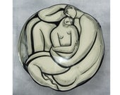 Lovers embrace serving bowl