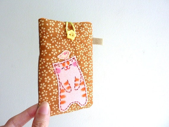 Mobile Phone Case, Ipod Sleeve, Phone Cover, iphone Case - Cat
