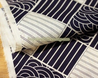 Japanese Cotton Fabric-Ocean Waves Stripe Check Gingham Patchwrok (Fat Quarter)