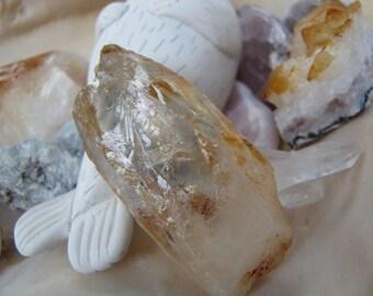 Lemurian Quartz Crystal Natural  Point ,Lemurian Raw Crystal /Reiki /Feng Shui