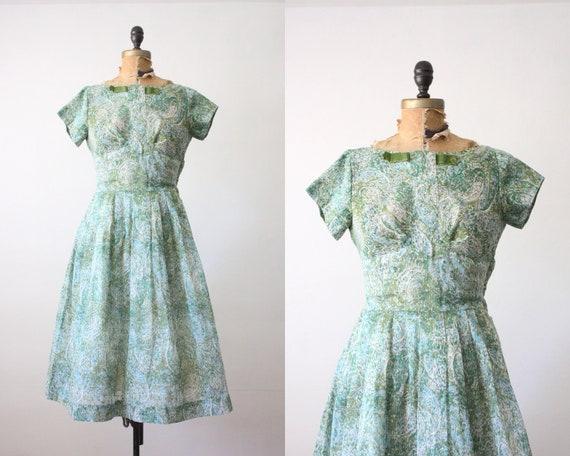 1950s dress- 50s paisley party dress