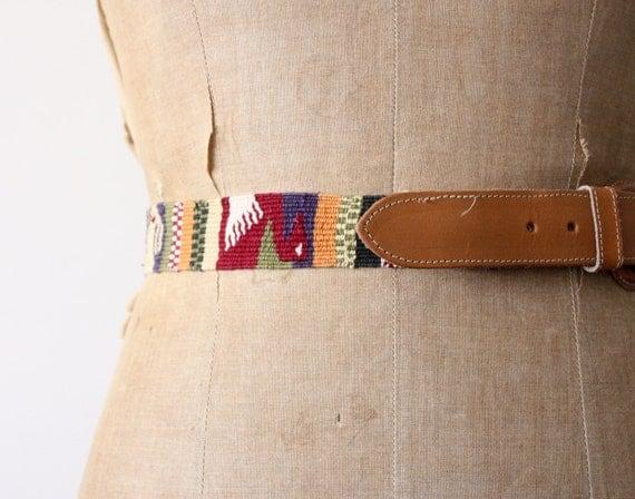 vintage southwestern woven belt