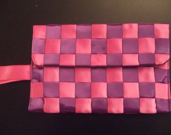 Purple and Pink Wristlet