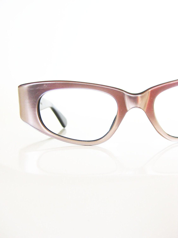 Glasses Frames Pink : Vintage 1960s Eyeglasses Pink Pearlescent Cat Eye Glasses