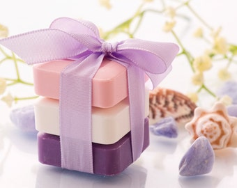 Soap Gift Sets - 3 Bars 6 oz Each - Organic Soap - Moisturizing Soap - Glycerin Soap - Natural Soaps - Choose Your Own Scent