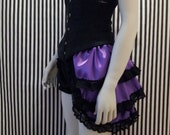 purple bustle skirt
