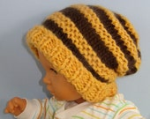 Instant Digital File pdf download knitting pattern only- Baby Superfast Stripe Slouch  pdf download knitting pattern