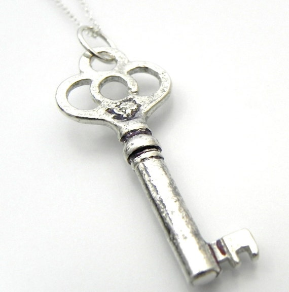 Sterling Silver Skeleton Key Necklace Wild Prairie Silver Jewelry