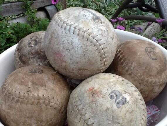 Baseballs, industrial, numbered