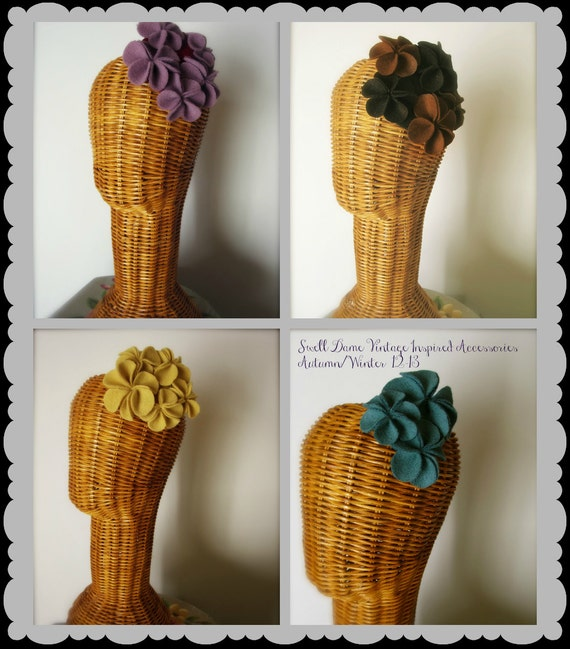 Swell Dame Handmade felt head piece in many colors