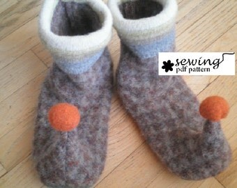 Adult Elf Slippers PDF Pattern- Womens size 2 to Mens size 10