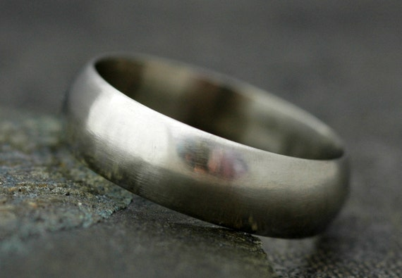 Thick 14k Gold Wedding Band- Custom Made Recycled Gold Wide Ring