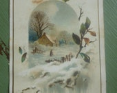 Antique Advertising Card, Bergner Potter and Co., Peoria, Illinois