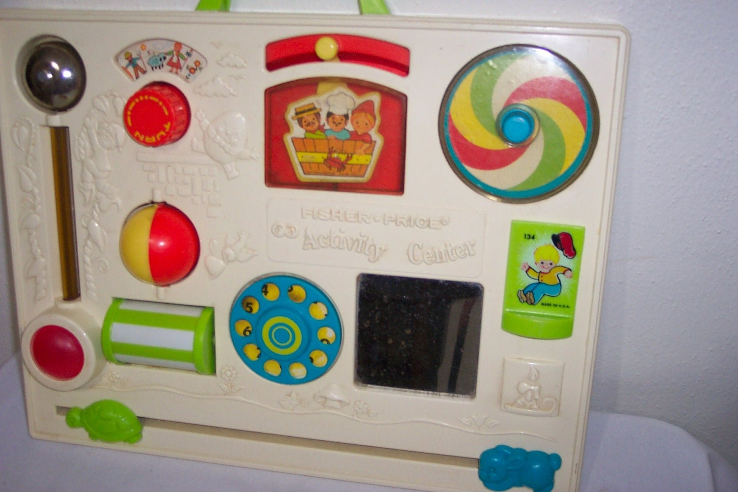 fisher price activity center crib toy. Black Bedroom Furniture Sets. Home Design Ideas
