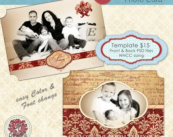 Christmas Photo Card Collection CC-9 ****Instant Download****