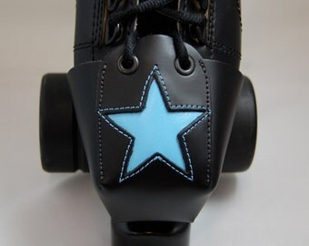 Leather Toe Guards with Light Blue Stars