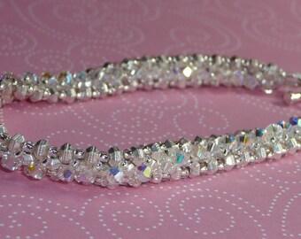 Silver Swarovski Crystal Tennis Bracelet - B1587