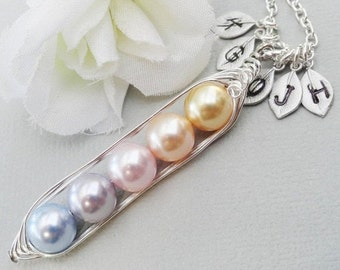 Sweet Peas In A Pod 2, 3,4 Or 5 Pearls Colors Of Tenderness  - Pick And Mix Your Colors