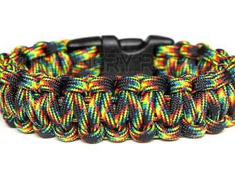 550 Paracord Survival Bracelet  - Galaxy - Multi Color
