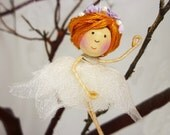Nutcracker Ballerina Ornament, Miniature Ballerina Fairy, Ballet Dancer Ornament,