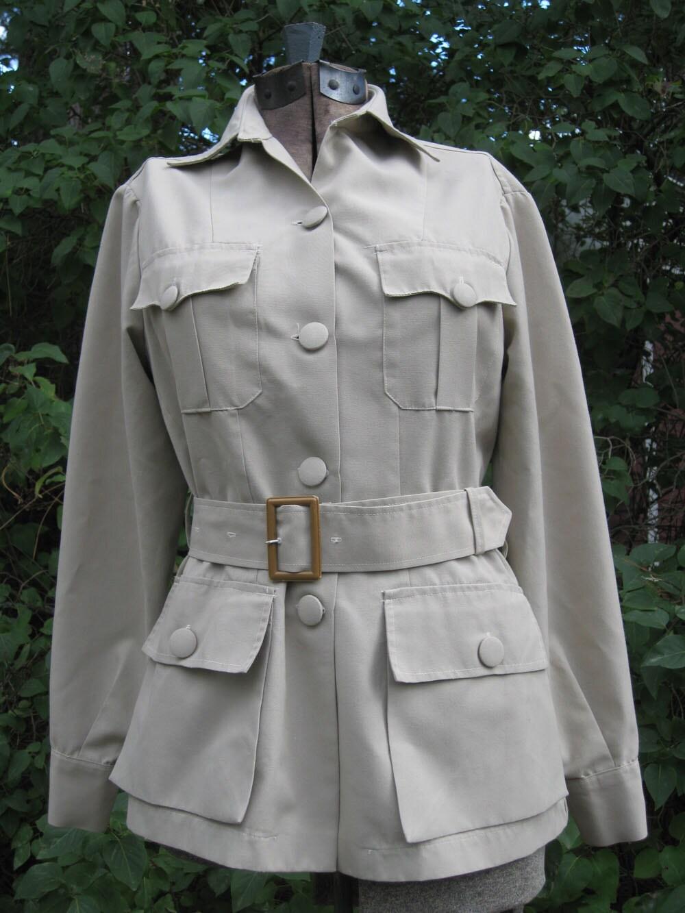 vintage colpro safari jacket katherine hepburn