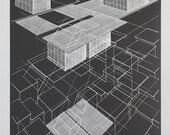 Projective plane, silkscreen print
