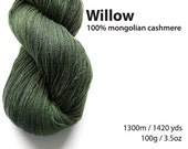 Willow 100% pure cashmere lace yarn 100g