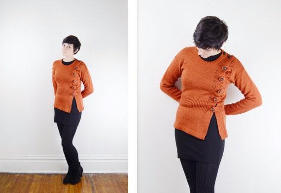 1970s Burnt Orange Sweater - S