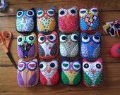 Create Your Own HOOT Eco Felt OWL Plush Toy Custom Colors
