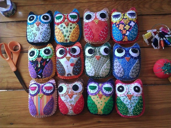 Create Your Own Hoot Eco Felt Owl Plush Toy Custom Colors-2316