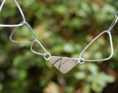 """Recycled Silver Triangle Necklace--""""Family of Triangles"""""""