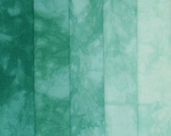 Hand Dyed Fabric Shades - Emerald