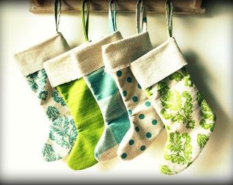 French Christmas Stockings Photography Print