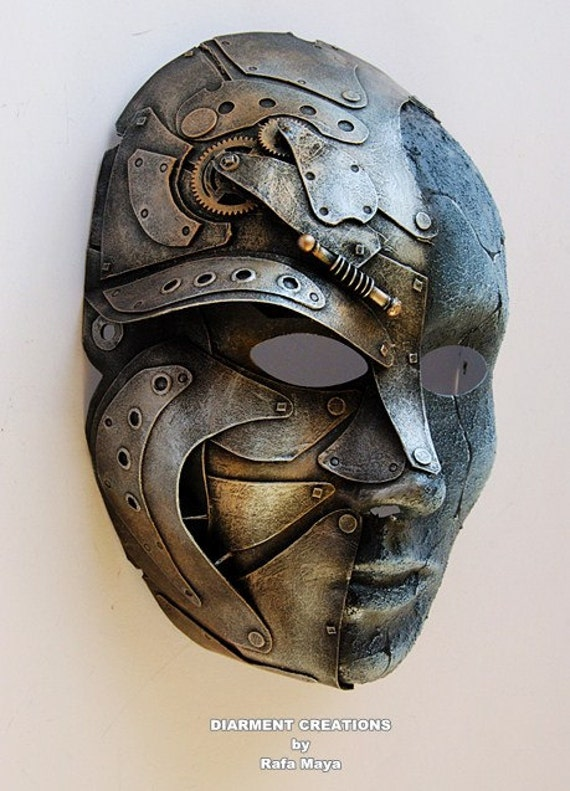 Steampunk Metal Stone Mask 12