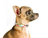 Plaid Mini Dog Collar....Madras Plaid...XXSmall or XSmall