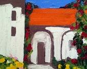 Impressionist HIDDEN MISSION GARDEN Landscape Lynne French o/c Art 16x20