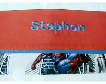 Personalized Spider-Man Spider Sense, Thomas Trackstar, Dusty, Nemo, John Deere Plaid Pillowcases