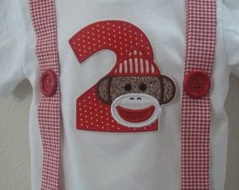 Sock Monkey Suspenders T shirt