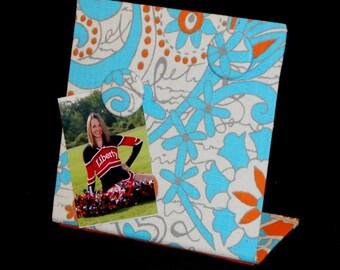 Hippie Chick, Magnetic Board, Magnet Board, Teen Birthday Gift, Tween Birthday Gift, Graduation Gift,  Mandarin Orange Hippie Chick Fabric