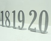 Metal Art Table Numbers Double Digit - Free USA Shipping
