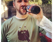 Beer Lover, Beard Wearing t-shirt - Beardo 100% cotton pre-shrunk