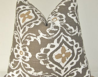 Pillow Cover, Decorative Pillow, Sofa Pillow, Throw Pillow, Toss Pillow, Taupe Brown, Brown Paisley,Home Decor, Home Furnishing, Pillow Case