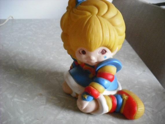 Vintage Rainbow Brite Character Doll Bank 1980s Toy