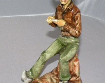 1950s COWBOY Figurine Twisting One Made in Japan by Wales