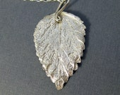Adriel handmade necklace - fine leaf in sterling silver - by lotusstone on etsy